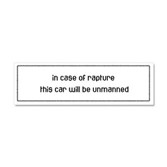 In Case of Rapture Car Magnet 10 x 3