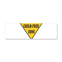 Child-Free Zone Car Magnet 10 x 3