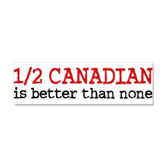 Half Canadian Car Magnet 10 x 3
