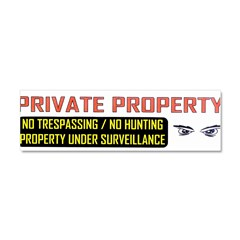 3 x 10 No Trespassing Decal Car Magnet 10 x 3