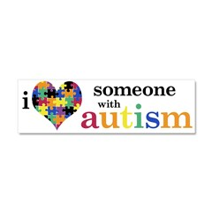 I HEART Someone with Autism - Car Magnet 10 x 3