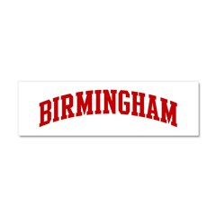 BIRMINGHAM (red) Car Magnet 10 x 3