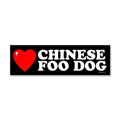 CHINESE FOO DOG Car Magnet 10 x 3