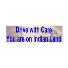 Native American-BS Car Magnet 10 x 3