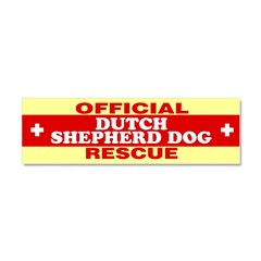 DUTCH SHEPHERD DOG Car Magnet 10 x 3
