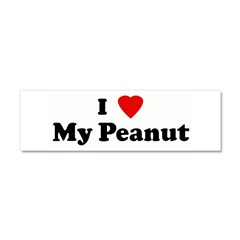 I Love My Peanut Car Magnet 10 x 3