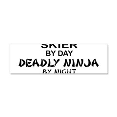 Skier Deadly Ninja Car Magnet 10 x 3