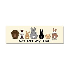 Get Off My Tail Car Magnet 10 x 3