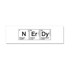 Periodic Nerd Car Magnet 10 x 3