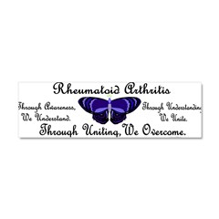 Butterfly Awareness 1 (Rheumatoid Arthritis) Car Magnet 10 x 3