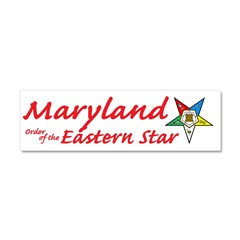 Maryland Eastern Star Car Magnet 10 x 3