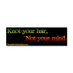 Not your mind Car Magnet 10 x 3