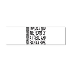 HEART OF A FRIEND Car Magnet 10 x 3