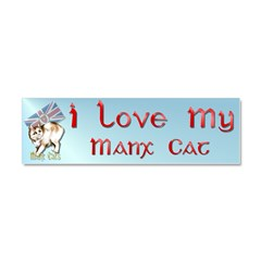 Manx Cats Car Magnet 10 x 3