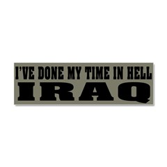 Iraq-Hell Car Magnet 10 x 3