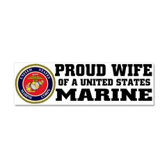 Marine Proud Wife Car Magnet 10 x 3