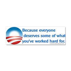 Anti-Obama Because Car Magnet 10 x 3