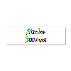Stroke Survivor Car Magnet 10 x 3