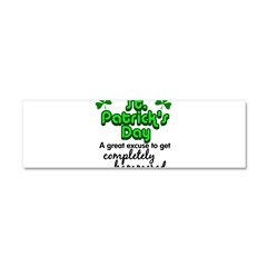 St. Patrick's Day Car Magnet 10 x 3