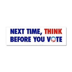 """Think 2012"" Car Magnet 10 x 3"