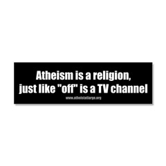 Atheism TV Car Magnet 10 x 3