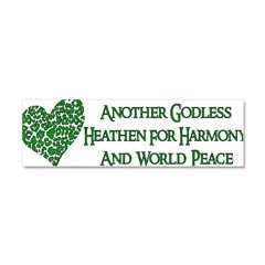 Godless For World Peace Car Magnet 10 x 3