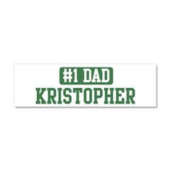 Number 1 Dad - Kristopher Car Magnet 10 x 3