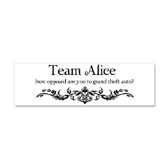Team Alice Theft Car Magnet 10 x 3