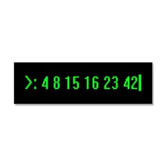 Numbers Car Magnet 10 x 3