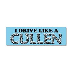 drive like a cullen remix Car Magnet 10 x 3