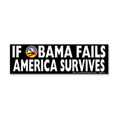 Anti-Obama Obama Fails America Survives Car Magnet 10 x 3