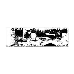 Lost Island White Car Magnet 10 x 3