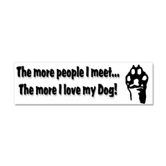 The more people I meet... Car Magnet 10 x 3