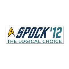 Spock for President Car Magnet 10 x 3