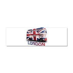 London Bus with Union Jack an Car Magnet 10 x 3
