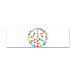 Peace Love Nanas Car Magnet 10 x 3