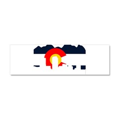 Colorado Rockies Flag Car Magnet 10 x 3