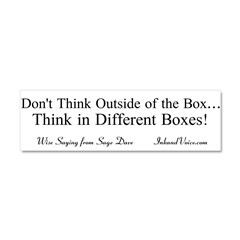Boxes Car Magnet 10 x 3