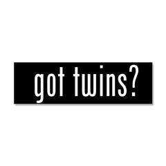 got twins? Car Magnet 10 x 3