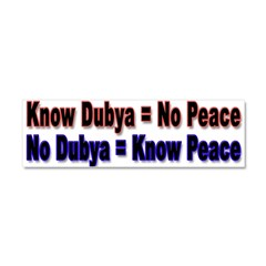 No Dubya Car Magnet 10 x 3