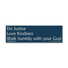 Bumper Sticker - Micah 6:8 Car Magnet 10 x 3
