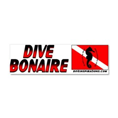 Dive Bonaire (red) Car Magnet 10 x 3