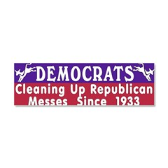 Democrats Car Magnet 10 x 3