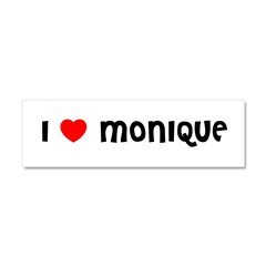 I LOVE MONIQUE Car Magnet 10 x 3