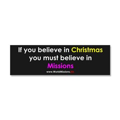 Christmas & Mission Car Magnet 10 x 3