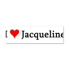 I Love Jacqueline Car Magnet 10 x 3