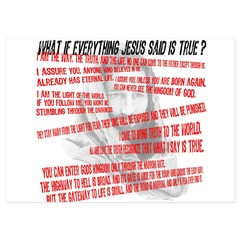 What if Jesus is truth.jpg 5x7 Flat Cards