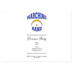 Marching Band 5x7 Flat Cards