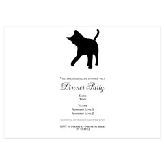 Black Kitten Silhouette 5x7 Flat Cards