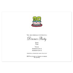 90th Birthday Cake 5x7 Flat Cards